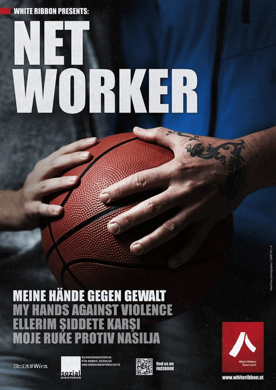 Plakat: Net Worker | White Ribbon Österreich