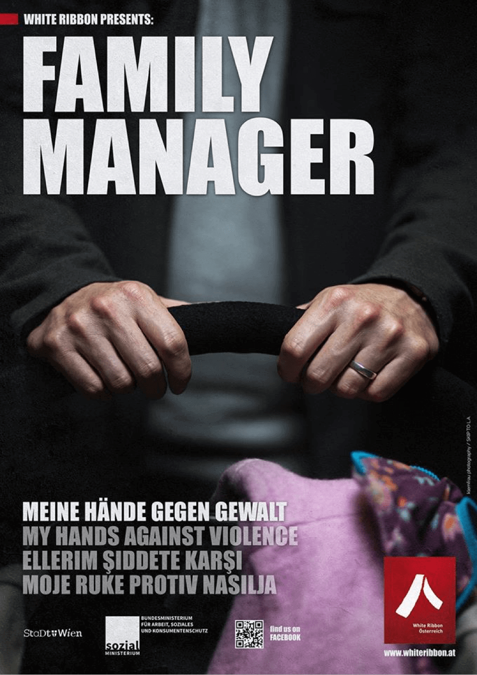 Plakat: Family Manager | White Ribbon Österreich