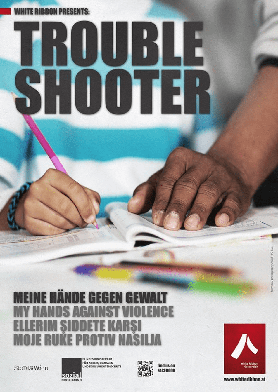 Plakat: Trouble Shooter | White Ribbon Österreich